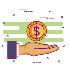 Crowdfunding sponsor collaboration donation vector