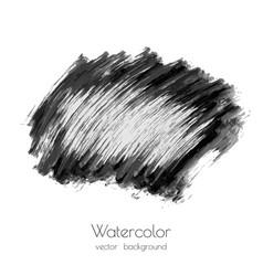 dark black watercolor vector image vector image