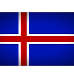 Flag of iceland vector