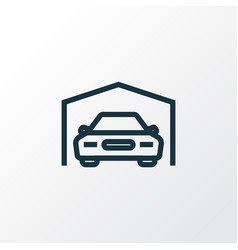 garage outline symbol premium quality isolated vector image