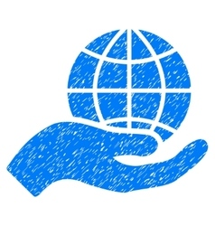 Global Care Grainy Texture Icon vector image vector image