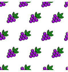 Grape simple line style seamless pattern vector