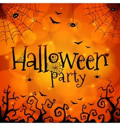 Halloween party orange greeting card vector image vector image