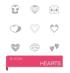 Hearts icon set vector
