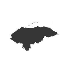 Honduras map silhouette vector