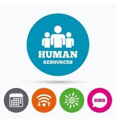 Human resources sign icon HR symbol vector image