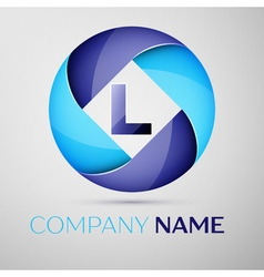 L letter colorful logo in the circle template for vector