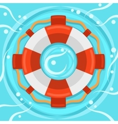 Lifebuoy flat color icon vector image