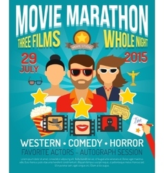 Movie promo poster vector