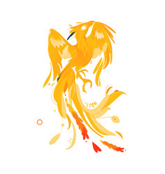 Mythical phoenix bird creature from fairy tales vector