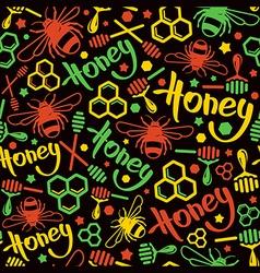 Natural honey seamless pattern vector