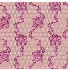 Purple lace fabric seamless pattern vector