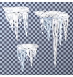 Set of icicles vector image