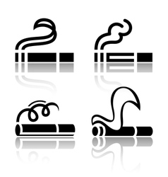 Set of symbols cigarettes vector image