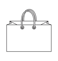 Shopping bag icon doodle line style colorful vector