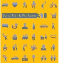Set of family icons vector