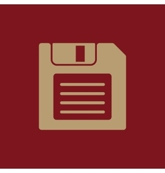 The floppy disk icon diskette symbol flat vector