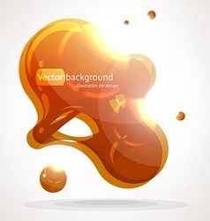 Orange blob background vector