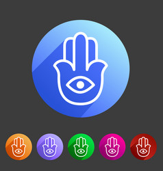 Hamsa hamesh icon flat web sign symbol logo label vector