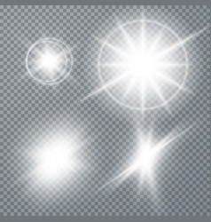 White glowing light burst explosion vector