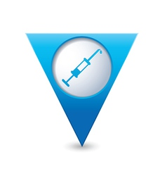 Hospital icon pointer blue vector