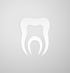 Canal in the symbol tooth vector