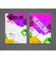 Design brochure template vector