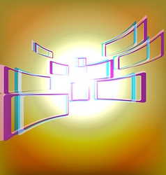 Abstract background with windows vector image