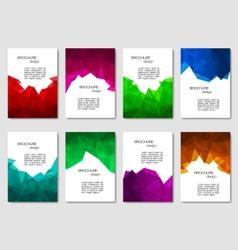 Set of brochures vector