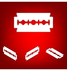 Razor blade icon set isometric effect vector
