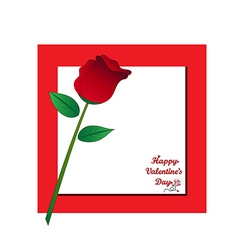 Red rose with paper card concept vector