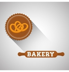Bakery design bread icon seal stamp vector