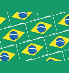Abstract brazilian flag or banner vector