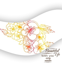 Banner floral ornament vector image vector image