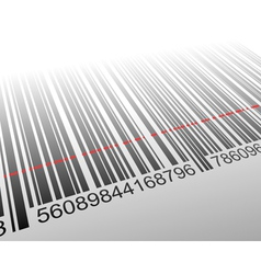 Barcode with laser effect vector