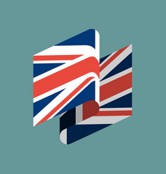 Britain flag ribbon isolated british tape banner vector