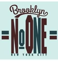 Brooklyn t-shirt graphics vector image