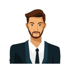 Businessman bearded work leadership vector