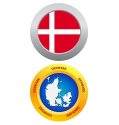 button as a symbol DENMARK vector image