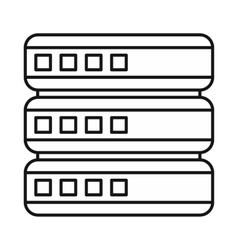 Database icon outline style vector image