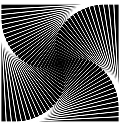 Design monochrome swirl movement square background vector