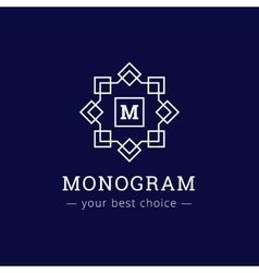 elegant simple monogram logo Geometric vector image
