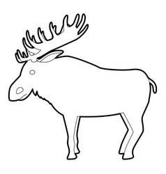 Elk icon outline style vector