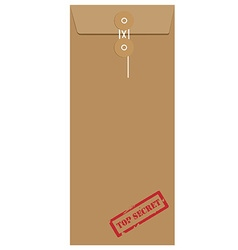 Envelope stamp top secret vector