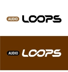 Loops text logo with infinity sign inside vector image vector image