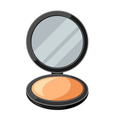 Open powder compact or make up of vector