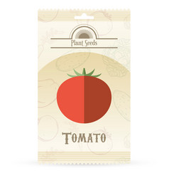 pack of tomato seeds vector image
