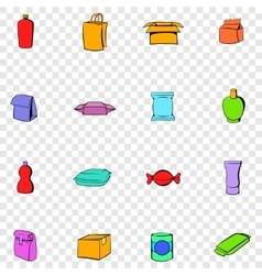 Package set icons vector image