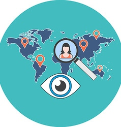 Person search concept Flat design Icon in vector image