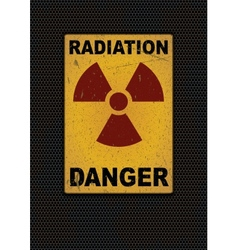 Radiation sign grunge background vector